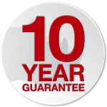 Peace of mind 10 year Manufacturer Guarantee