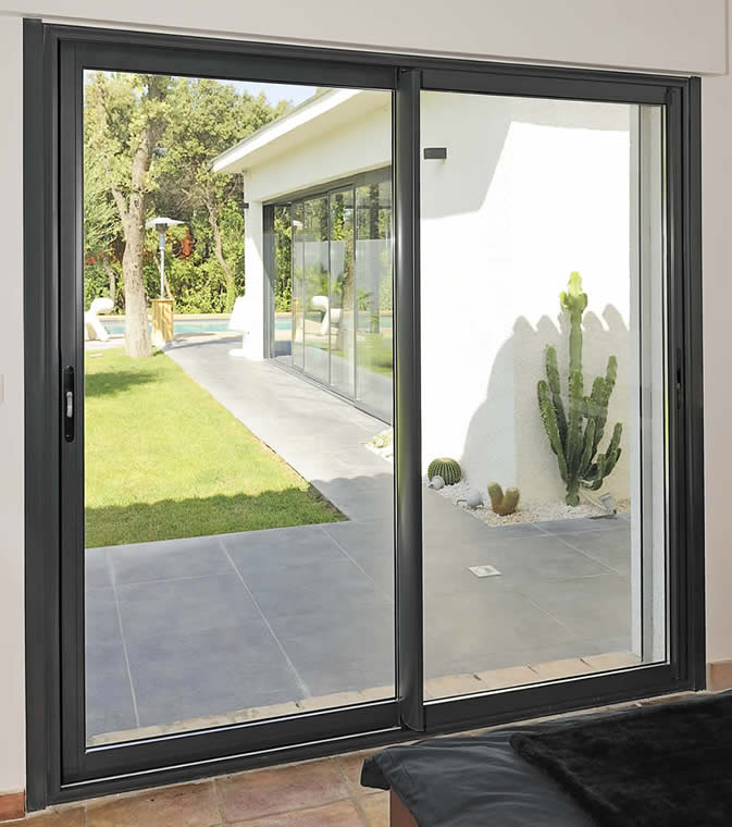 Aluminum door india pest control tempered glass for for Outside sliding glass doors